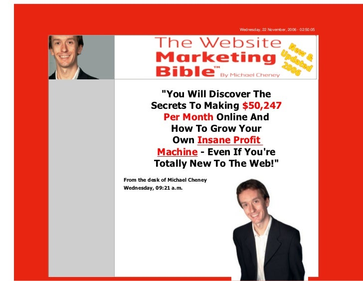 """Wednesday, 22 November, 2006 - 02:50:05            """"You Will Discover The          Secrets To Making $50,247            Pe..."""