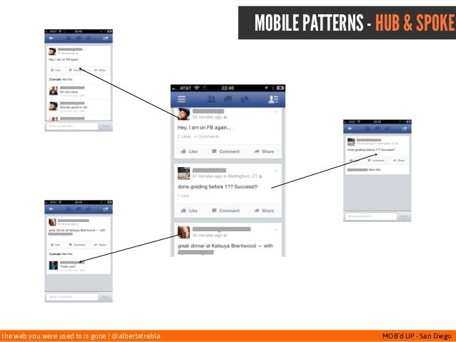 the web you were used to is gone   @albertatrebla MOB'd UP - San Diego MOBILE PATTERNS - HUB & SPOKE