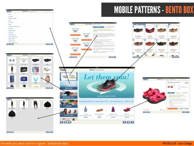 the web you were used to is gone   @albertatrebla MOB'd UP - San Diego MOBILE PATTERNS - BENTO BOX