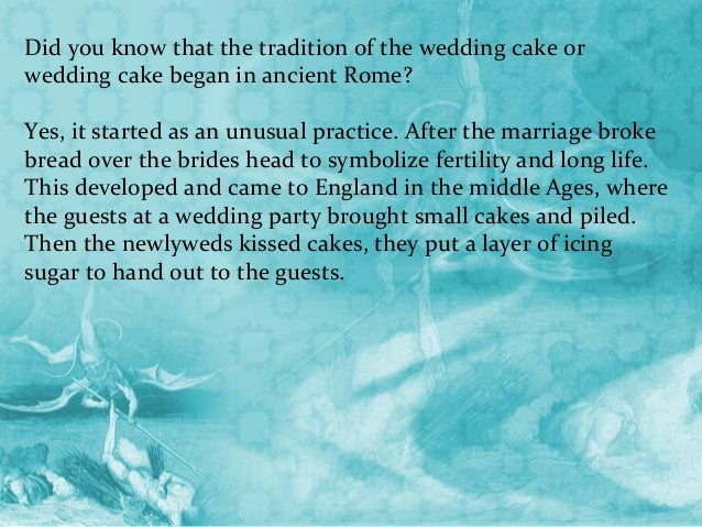 symbolism of the wedding cake in roman times the wedding cakes was a symbol of the sweetness that the 20730