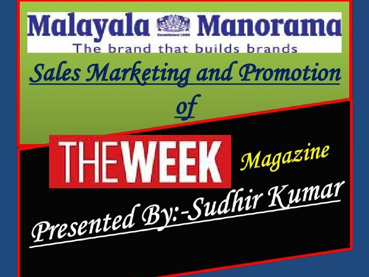 Sales Marketing and Promotion              of