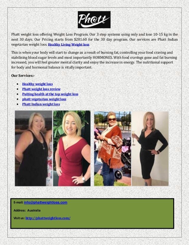 The weight loss program phatt weight loss program