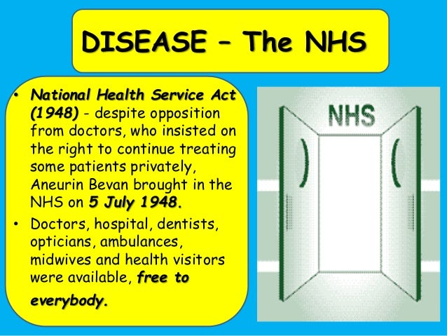 the relation of nhs to the welfare state Thatcher and the welfare state the relationship between these factors can be seen from the beginning the national health service made concessions to.