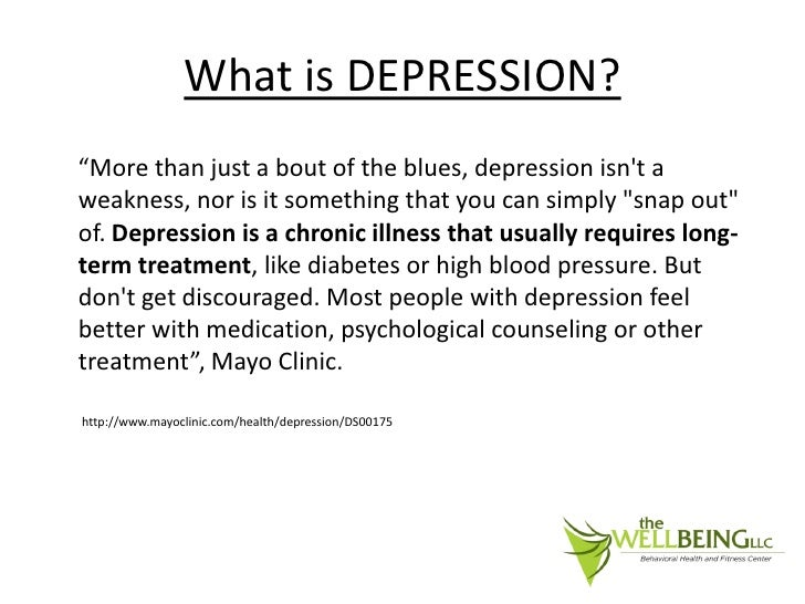The Well Being Behavioral Health & Fitness Center Depression Powe…