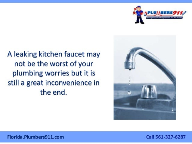 The West Palm Beach Plumber\'s Manual On How To Fix A Leaky Kitchen Fa…