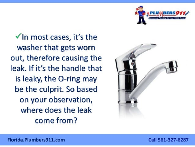 The West Palm Beach Plumber S Manual On How To Fix A Leaky Kitchen Fa