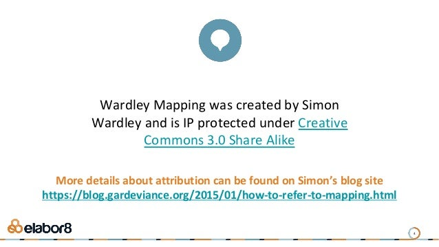 Wardley Mapping was created by Simon Wardley and is IP protected under Creative Commons 3.0 Share Alike More details about...