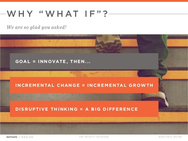 The What If Technique presented by Motivate Design Slide 4
