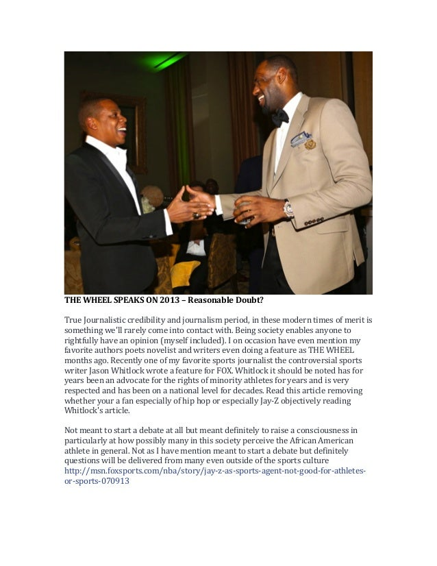THE  WHEEL  SPEAKS  ON  2013  –  Reasonable  Doubt?      True  Journalistic  credibility  and  ...