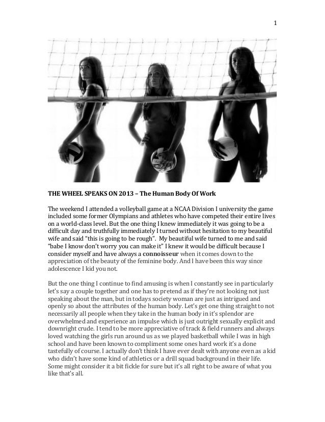 1         THE  WHEEL  SPEAKS  ON  2013  –  The  Human  Body  Of  Work      The  weekend...