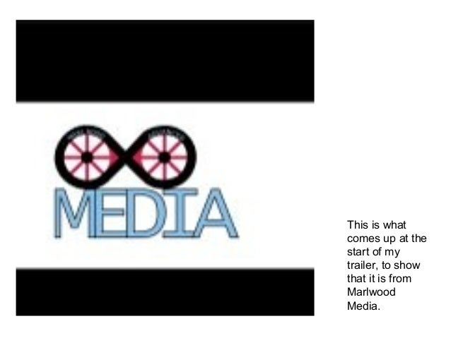 This is whatcomes up at thestart of mytrailer, to showthat it is fromMarlwoodMedia.