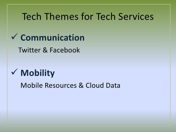 The Why Report: Tech Themes for Tech Services Slide 3