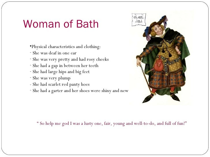 an analysis of the character of the wife of bath in chaucers the canterbury tales A list of all the characters in the canterbury tales the the canterbury tales characters covered read an in-depth analysis of the wife of bath the pardoner.