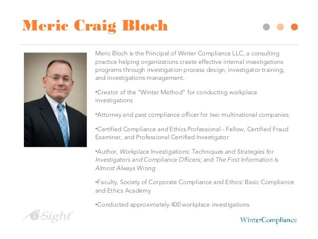 The winter method a business focused approach to - Ethics and compliance officer association ...