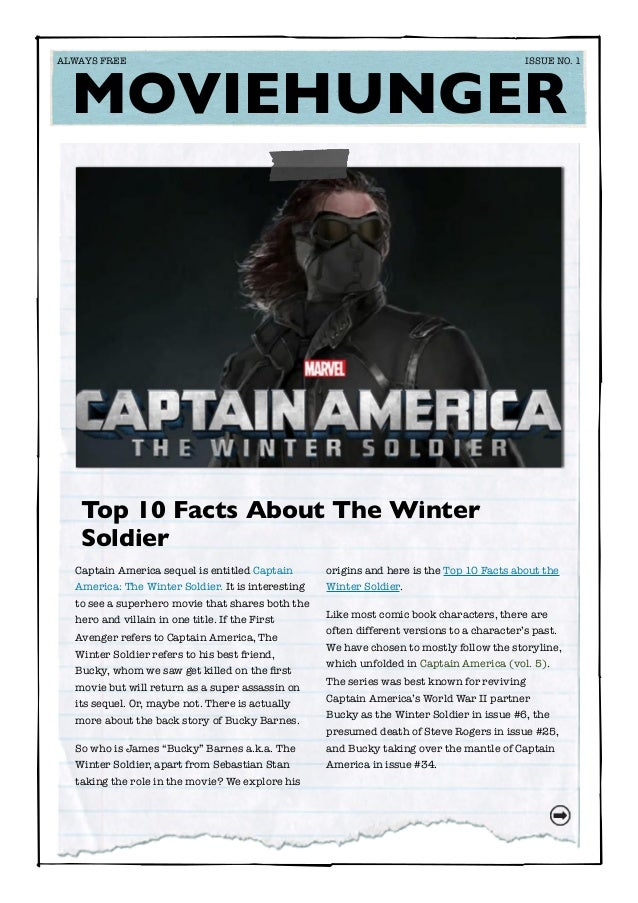 Captain America sequel is entitled Captain America: The Winter Soldier. It is interesting to see a superhero movie that sh...