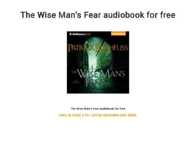 fear audio book wise mans