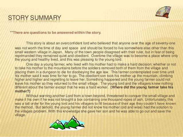 the aged mother story japanese folktale Download and read copy of the story of the aged mother a japanese folktale copy of the story of the aged mother a japanese folktale some people may be laughing when looking at you reading in your spare time.