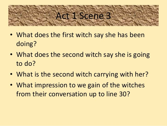 Do you think the witches control Macbeth's fate? Or does he control his own future?