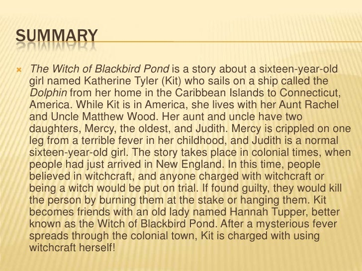 The witch of blackbird pond reprort mary cate mihalik