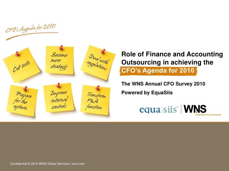 Role of Finance and Accounting                                                     Outsourcing in achieving the           ...