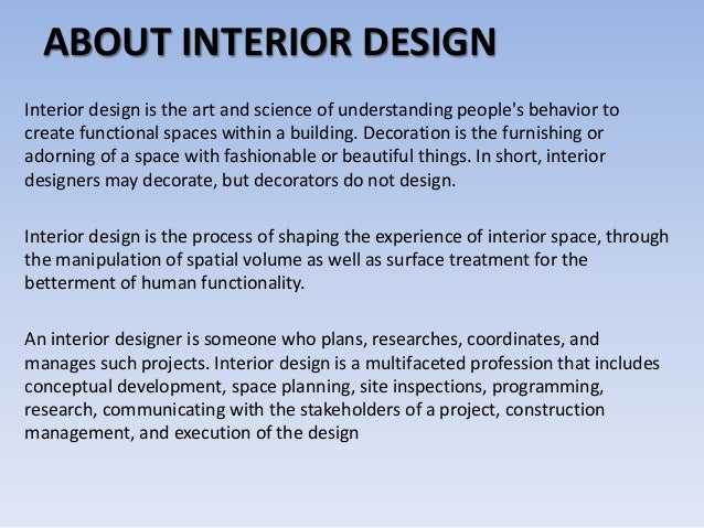Facts Education Skills for Interior Designer