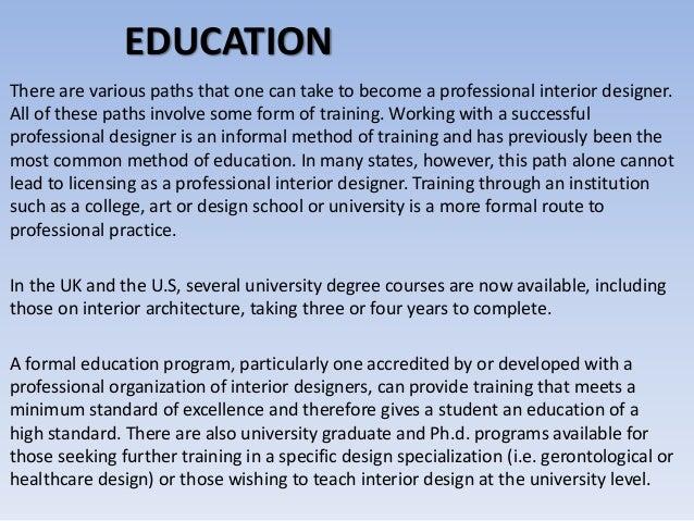 Facts Education Skills For Interior Designer. What ...