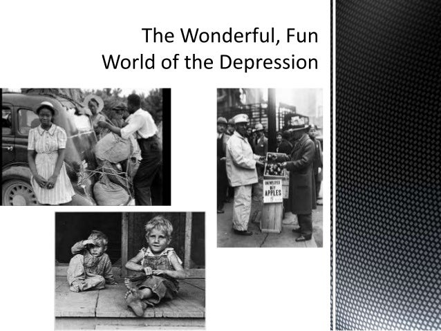 The depression of the 1930s, most commonly referred to as the Great Depression, was international in scope and not limite...