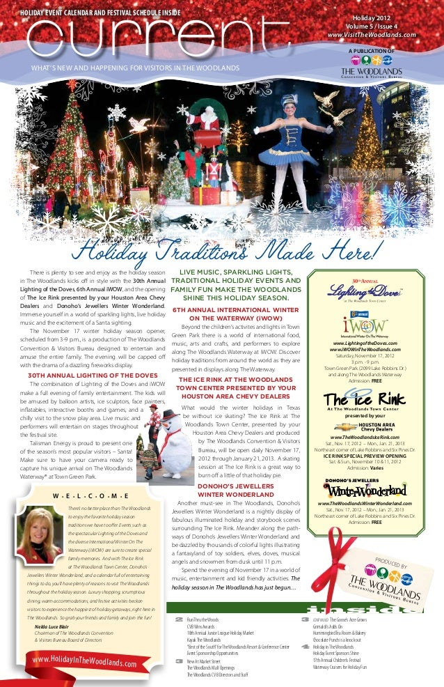Holiday Event calendar and festival schedule inside curre current                                                         ...