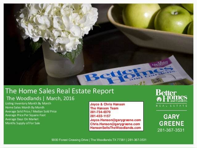 TheHomeSalesRealEstateReport TheWoodlands|March,2016 Lis>ngInventoryMonthByMonth HomeSalesMonthByMont...