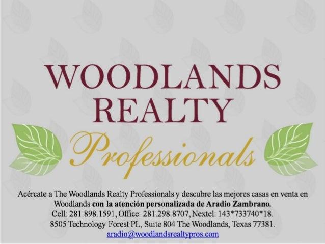 Carlton Woods; un lugar privilegiado.La filosofía en de The Woodlands está basada en dejar que la naturalezadesempeñe un p...