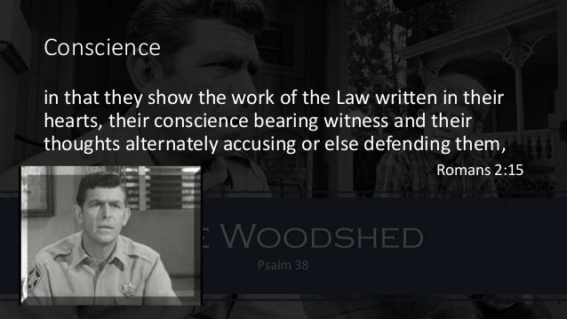 the burden of a guilty conscience If you have a conscience, you've got guilt  that the study also showed that going to confession relieved some of the burden  if you feel guilty about.