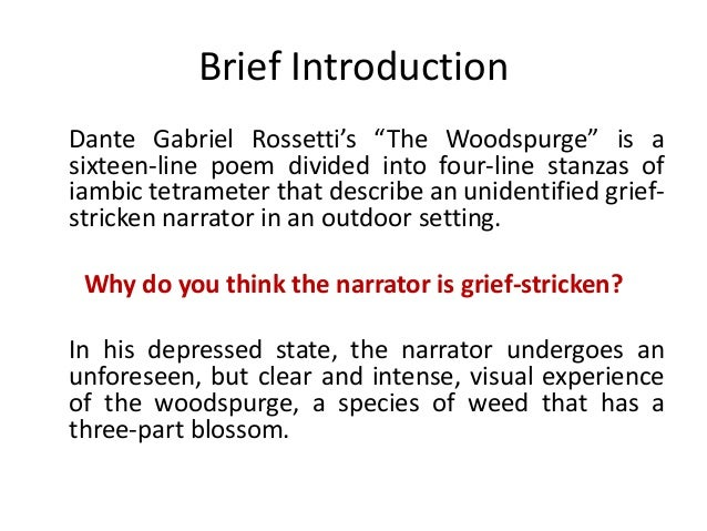The Woodspurge Poem Essay Format - image 2