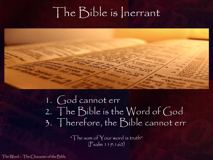 Image result for image of the inerrant word of god
