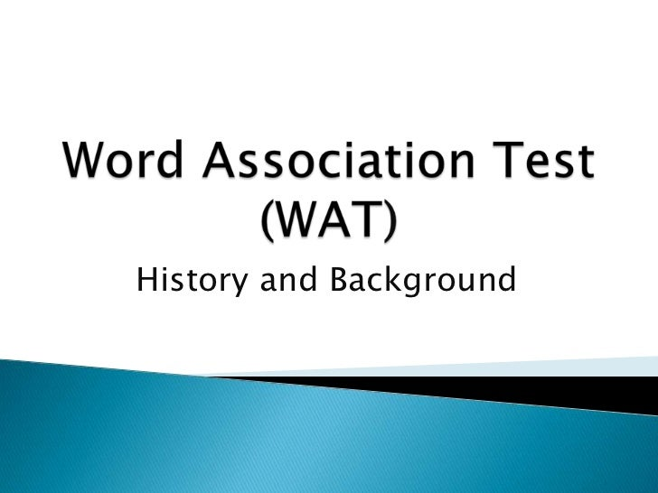The word association test |Word Association Test