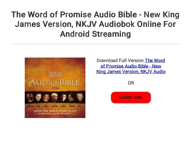 The Word of Promise Audio Bible - New King James Version    NKJV Audi…