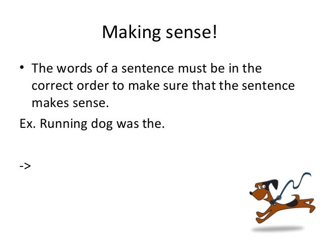 The word order of sentences