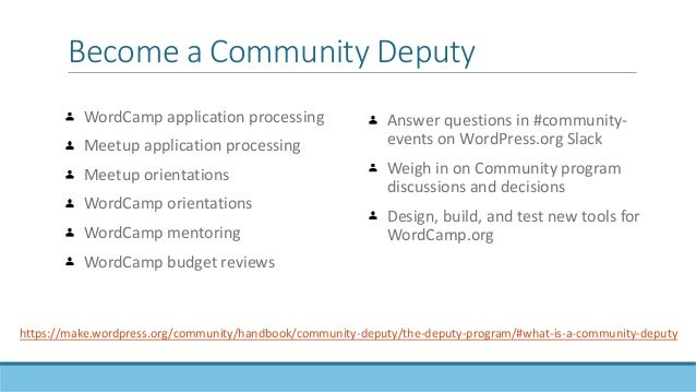 Community deputies are an excellent way to contribute to the WordPress project without knowing how to code.