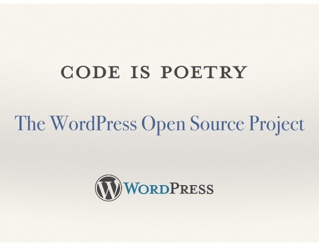 The WordPress Open Source Project