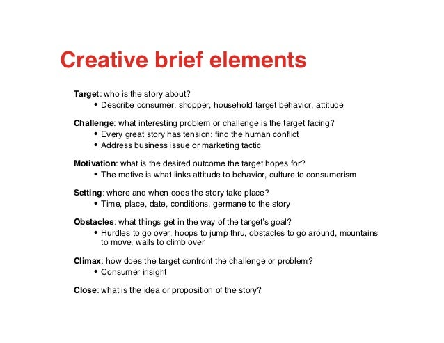 creative brief Any and all marketing materials, from advertisements and brochures to websites and packages, benefit from the use of a creative brief, a document that lays out the.