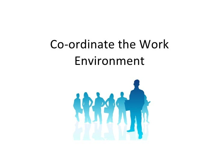 Co-ordinate the Work Environment