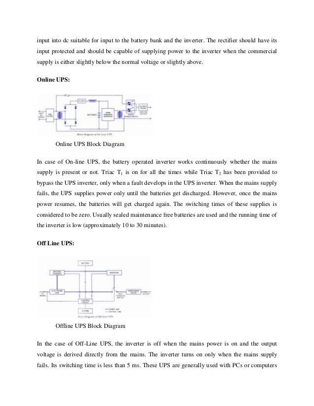 The working principle of ups 8 input ccuart Images
