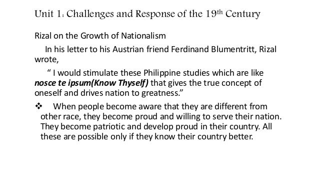 Social Changes Outside Philippines During 19th Century in the Light of Rizal's Life