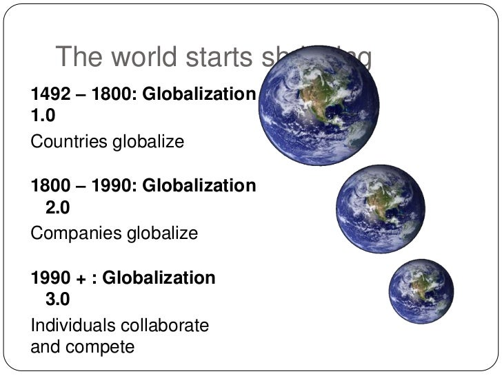 Globalization and the Flat World