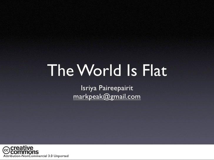 The World Is Flat                                           Isriya Paireepairit                                         ma...
