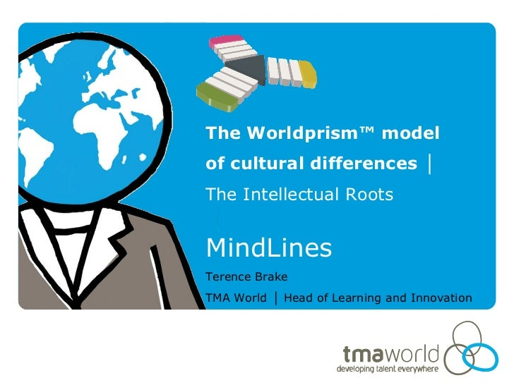 The Worldprism™ modelof cultural differences │The Intellectual RootsMindLinesTerence BrakeTMA World │ Head of Learning and...