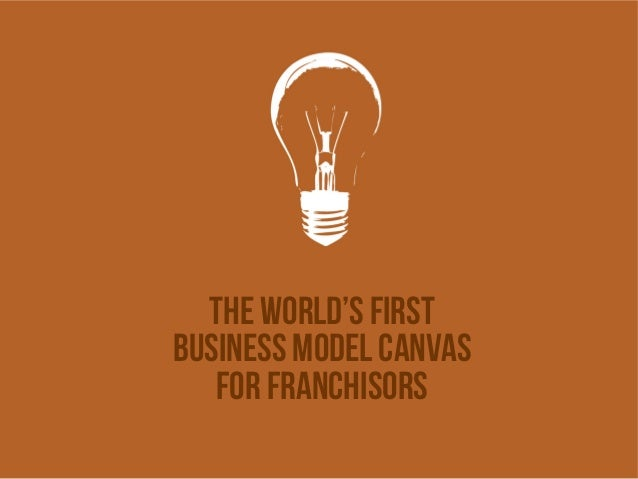 The world's first business model canvas For franchisors