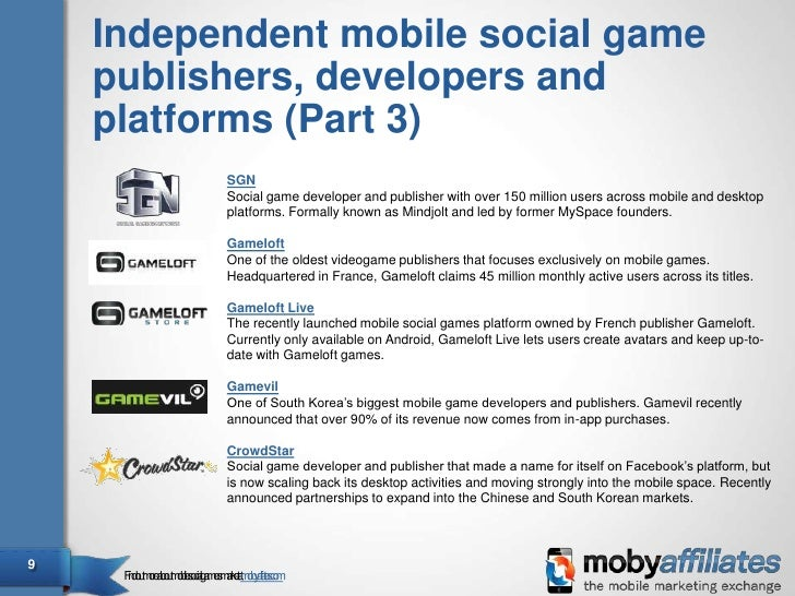 The world's top mobile social games companies