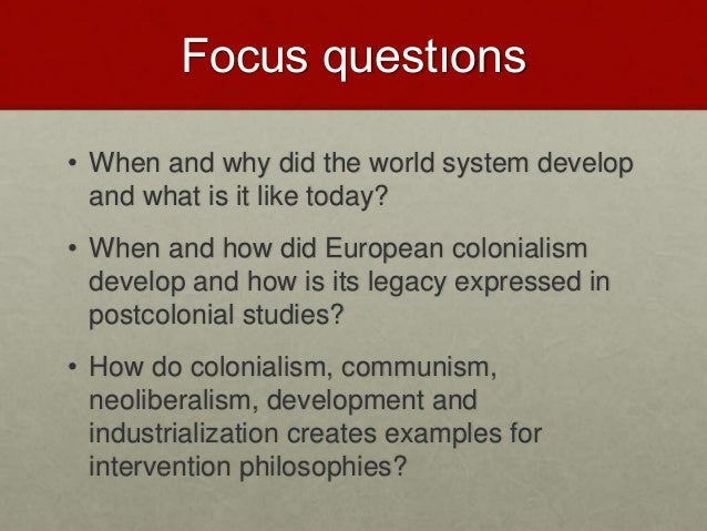 The World System And Colonialism2