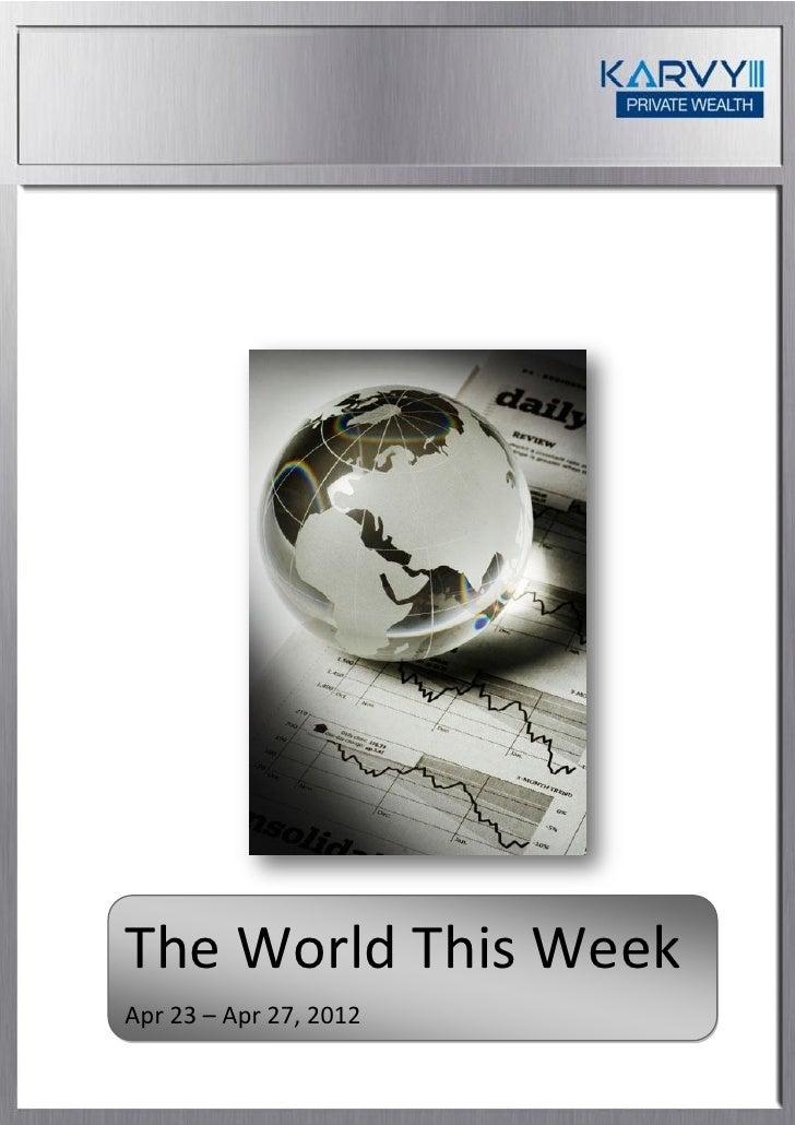 The World This WeekApr 23 – Apr 27, 2012