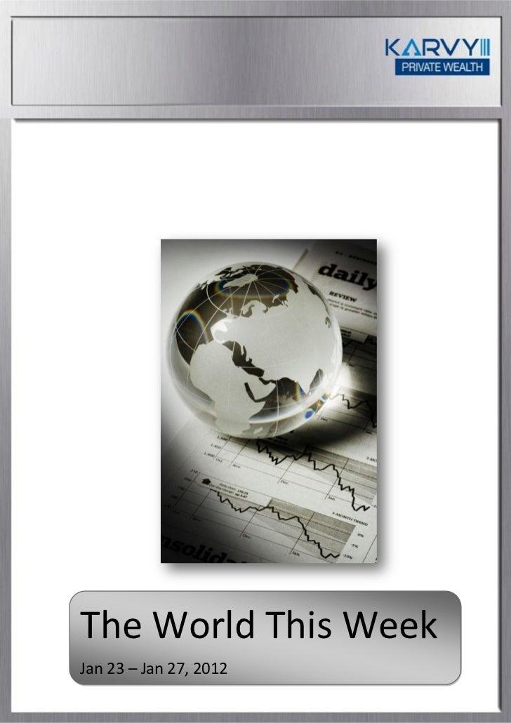 The World This WeekJan 23 – Jan 27, 2012